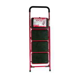 BRONCO-NON-SLIP-STEEL-LADDER-RED-4-STEPS-1