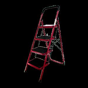 BRONCO-NON-SLIP-STEEL-LADDER-RED-4-STEPS-3