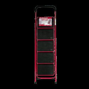 BRONCO-NON-SLIP-STEEL-LADDER-RED-5-STEPS-1